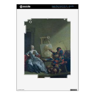 El pintor del Harlequin, c.1742 (aceite en lona) Pegatina Skin Para iPad 3