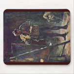 El pintor en el caballete de Daumier Honoré Alfombrillas De Raton
