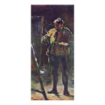 El pintor en el caballete de Daumier Honoré Tarjetas Publicitarias A Todo Color