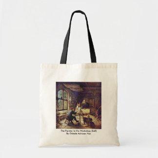 El pintor en su taller (uno mismo) bolsa tela barata