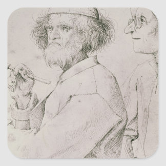 El pintor y el amante del arte colcomanias cuadradas