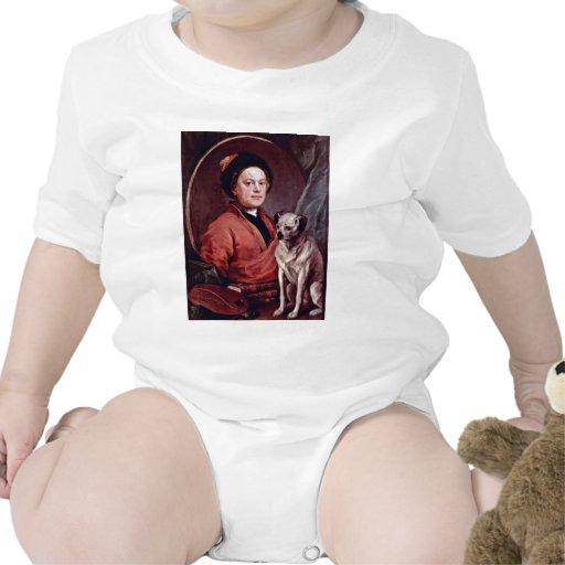 El pintor y su autorretrato del barro amasado por trajes de bebé