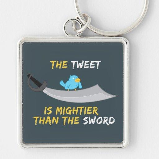 El pío es más poderoso que la espada llaveros personalizados