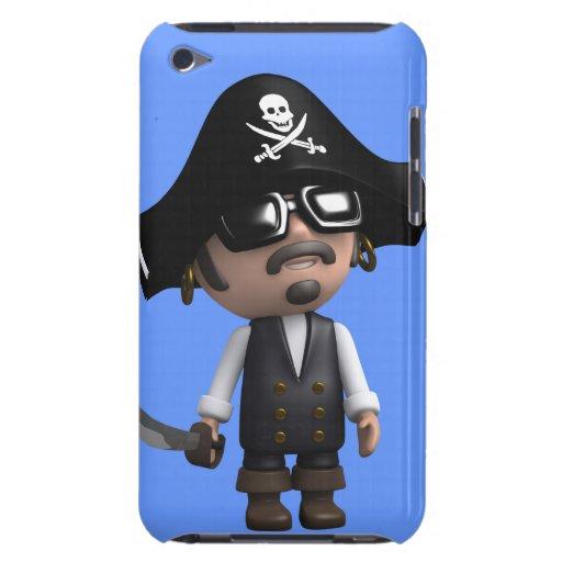 el pirata 3d lleva las gafas de sol (editable) iPod touch cobertura