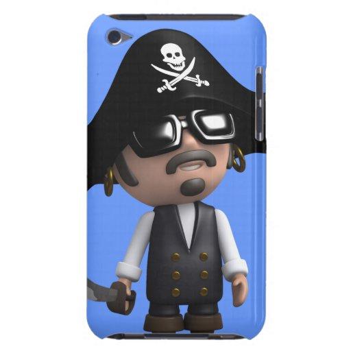 el pirata 3d lleva las gafas de sol (editable) barely there iPod funda