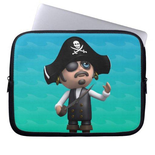el pirata 3d mira para arriba (cualquier color U c Funda Ordendadores