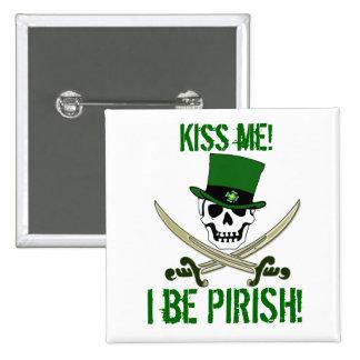 El pirata alegre de Rogelio del día del St Patrick Pins