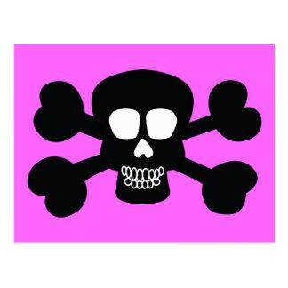 el PIRATA ALEGRE de ROGERS del CRÁNEO NEGRO skull0 Postales