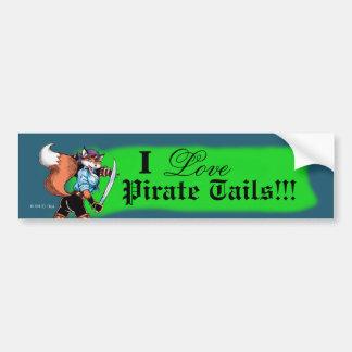 El pirata ata a la pegatina para el parachoques pegatina para auto