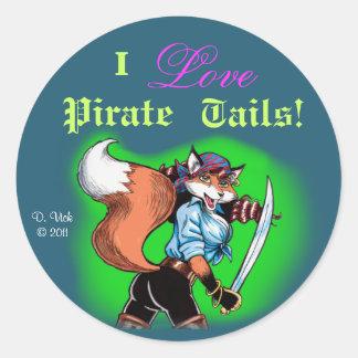 El pirata ata al pegatina