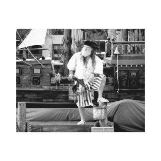el pirata con el barco de la nave piratea imagen lona envuelta para galerías