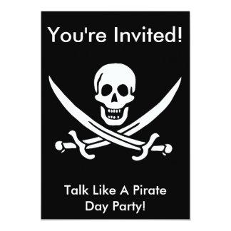 """El pirata de Jack Rackham invita Invitación 5"""" X 7"""""""