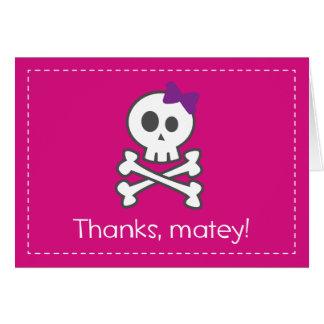 El pirata del chica le agradece: 2do El grado y Tarjeta Pequeña