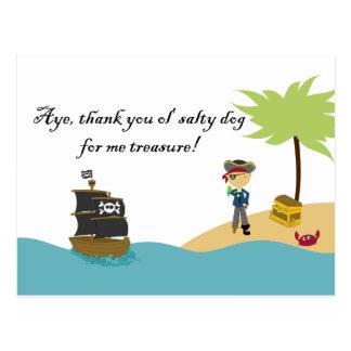 El pirata del muchacho lindo de la diversión le ag tarjetas postales