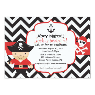 El pirata embroma la invitación de la fiesta de