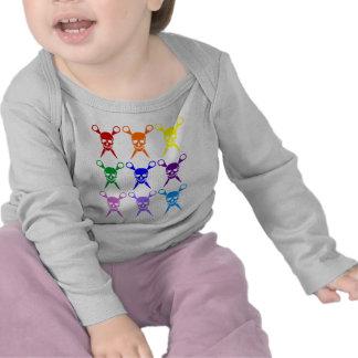 El pirata esquila el arco iris 2009 transparente camiseta