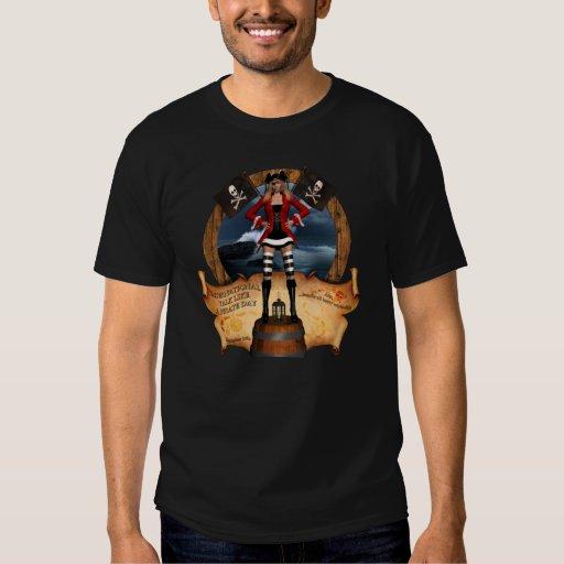 El pirata gobierna la camiseta camisas