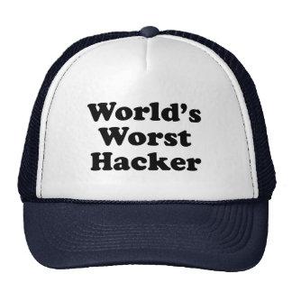 El pirata informático peor del mundo gorros