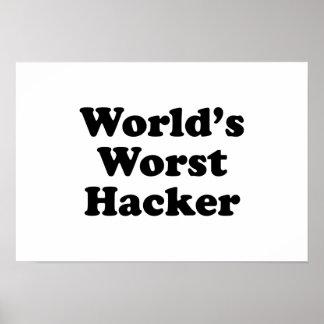 El pirata informático peor del mundo póster