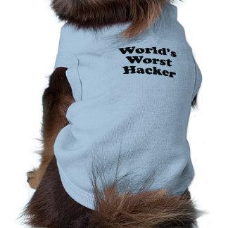El pirata informático peor del mundo camiseta de perro