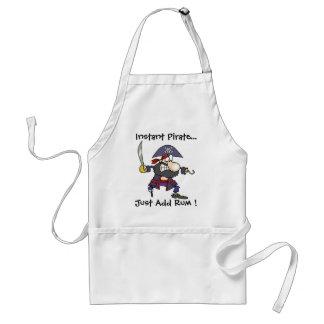 ¡El pirata inmediato…, apenas añade el ron! Delantal