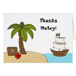 El pirata le agradece cardar tarjeta pequeña
