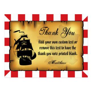 El pirata le agradece las tarjetas tarjetas postales