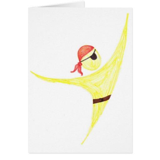 El pirata le agradece tarjeta pequeña