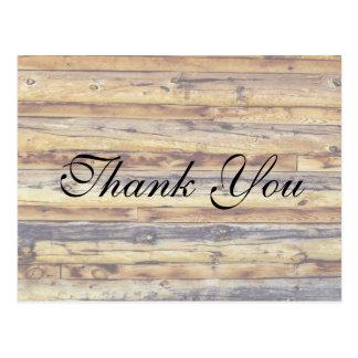 El piso de madera apenado rústico el | le agradece tarjeta postal