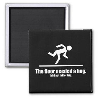 El piso necesitó un abrazo imán cuadrado