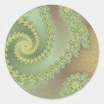 El pistacho machihiembra a los pegatinas etiquetas redondas