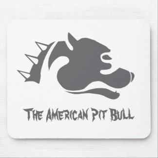 El pitbull americano - cojín de ratón tapete de ratones