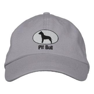 El pitbull Terrier americano oval bordó el gorra Gorra De Beisbol