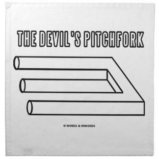 El Pitchfork del diablo (ilusión óptica) Servilleta Imprimida