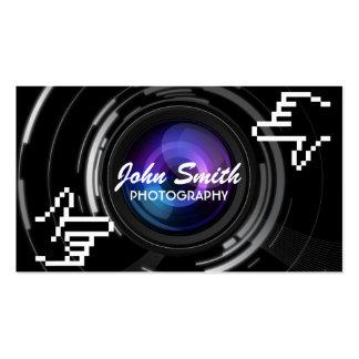 El pixel da a fotógrafo del capítulo la tarjeta de tarjetas personales