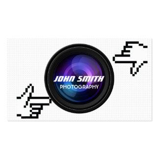 El pixel da la tarjeta de visita del fotógrafo del
