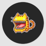 El pixel Grande-Articuló al pegatina del gato