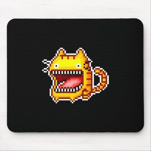 El pixel Grande-Articuló el gato Mousepad Tapete De Ratones