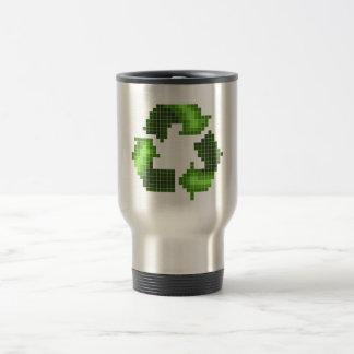 El pixel recicla la taza