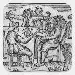 El placer de los Vino-Toneleros, de Calcomania Cuadradas Personalizadas