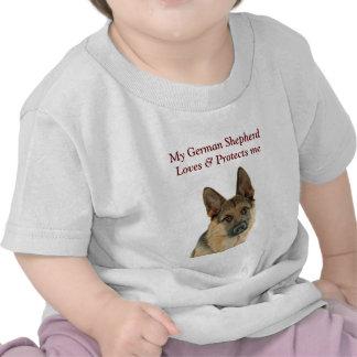 El placer del amante del pastor alemán camisetas