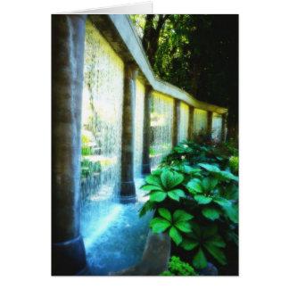 El placer del jardinero - característica del agua felicitación