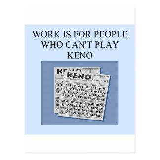 el placer del jugador del keno tarjetas postales