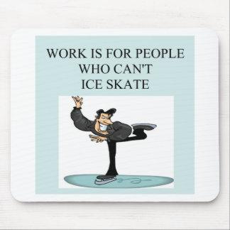 el placer del patinador de hielo tapetes de raton