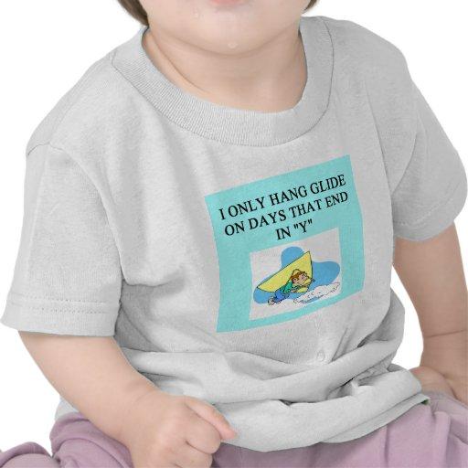 el placer del planeador de caída camiseta