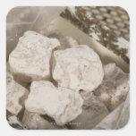 El placer turco (locum) es un caramelo dulce de pegatina cuadradas