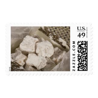 El placer turco (locum) es un caramelo dulce de timbres postales