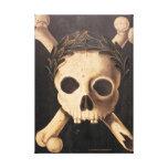 El Plaga-Cráneo negro y la bandera pirata estiraro Lona Envuelta Para Galerias