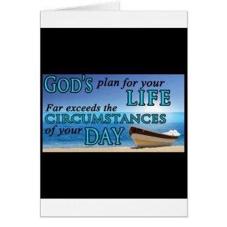 El plan de dios para su vida tarjeta de felicitación