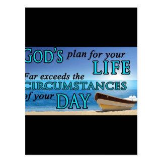 El plan de dios para su vida tarjeta postal